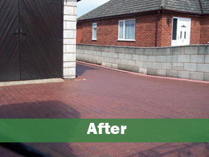 Block paving after