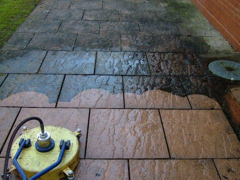 Cleaning Patios and Paving slabs